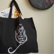 Sheet Music Flower Tote